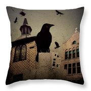 City Church Crows Throw Pillow