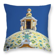 Church Dome And Blue Sky Throw Pillow