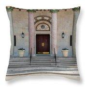 Church Doors Throw Pillow