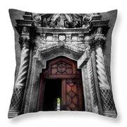 Church Entrance Throw Pillow