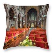 Church Flowers Throw Pillow