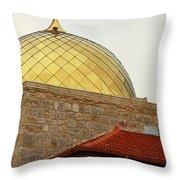 Church Golden Dome Throw Pillow