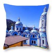 Church In Banos Ecuador Throw Pillow by Al Bourassa