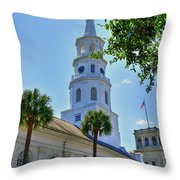 Church In Charleston Throw Pillow