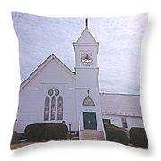Church In Damascus Maryland Throw Pillow