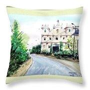 Church In Goa Throw Pillow