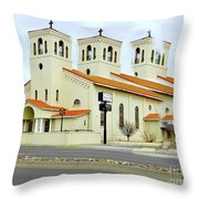 Church In New Mexico Multiplied Throw Pillow