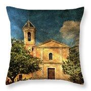 Church In Peillon Throw Pillow