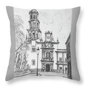 Church In Queretaro, Mx Throw Pillow