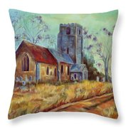 Church In Suffolk  Throw Pillow