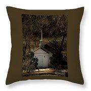 Church In The Garden Throw Pillow
