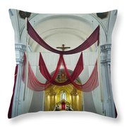 Church Interior 2 Guatemala  Throw Pillow