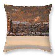 Church Landing In January Throw Pillow