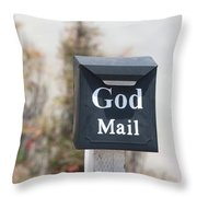 Church Mailbox In Arroyo Grande Throw Pillow