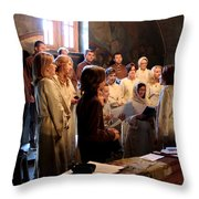 Church Throw Pillow by Milan Mirkovic