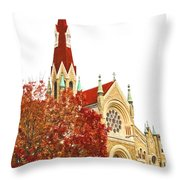 Church Next Door Throw Pillow
