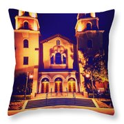 Church Night Throw Pillow