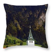 Church Of Bad Oberdorf  Throw Pillow