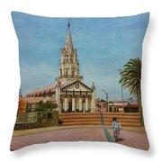 Church Of Caldera Throw Pillow