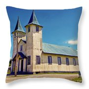 Church Of Chacao Throw Pillow