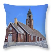 church of Ilulissat - Greenland Throw Pillow