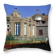 Church Of Our Lady Mary Of Zion Throw Pillow