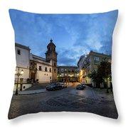 Church Of Santo Domingo Panorama Cadiz Spain Throw Pillow