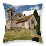Church Of St. Lawrence West Wycombe 3 Throw Pillow