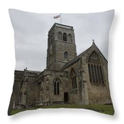 Church Of St. Mary's - Wedmore Throw Pillow