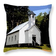 Church Of The Baptist Throw Pillow
