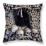 Church Of The Bones Throw Pillow