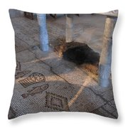 Church Of The Bread And Fish Throw Pillow