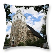 Church Of The Holy Cross At Rauma Throw Pillow