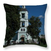 Church Of The Holy Mother Of God The Source Of Life At Tsaritsyno Park Throw Pillow