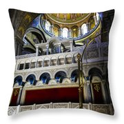 Church Of The Holy Sepulchre Interior Throw Pillow