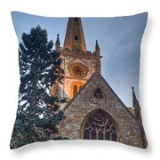 Church Of The Holy Trinity Stratford Upon Avon 4 Throw Pillow