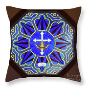 Church Of The Mediator Window Throw Pillow