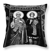 Church Of The Saviour On Spilled Blood, Saint Petersburg #3.    Black And White Throw Pillow