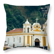 Church Of The Transfiguration Quetzaltenango Guatemala 2 Throw Pillow