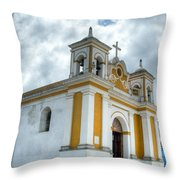 Church Of The Transfiguration Quetzaltenango Guatemala 5 Throw Pillow