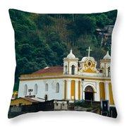 Church Of The Transfiguration Quetzaltenango Guatemala Throw Pillow