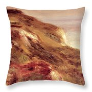 Church On A Clifftop Throw Pillow