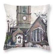 Church On Chelsea Embankment Throw Pillow