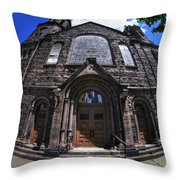 Church On Main St  Throw Pillow