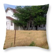 Church On The Grasslands  Throw Pillow