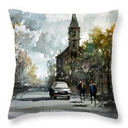Church On The Hill Throw Pillow by Ryan Radke
