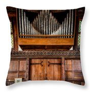 Church Organ Throw Pillow