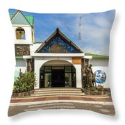 Church Parroquia Franciscana Santa Marianita Puerto Ayora Santa  Throw Pillow