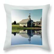 Church Reflection Throw Pillow