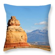 Church Rock Utah Throw Pillow